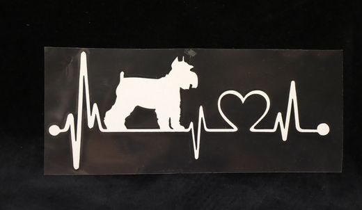 Car sticker lifeline  Schnauzer